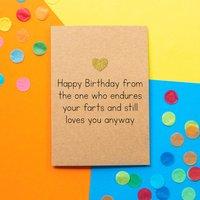 'Birthday Farts' Funny Husband Birthday Card