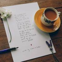 'Tea' Original Handwritten Funny Poem