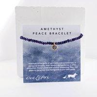 Peace Amethyst Bracelet