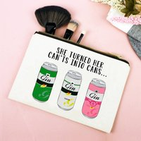 Funny Motivational Gin Make Up Bag