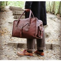 Oxley Extra Water Resistant Leather Weekend Bag Pecan