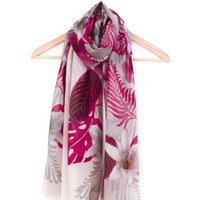 Tropical Pink Scarf With Gift Box And Card, Pink