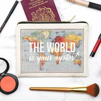 World Is Your Oyster Make Up Bag