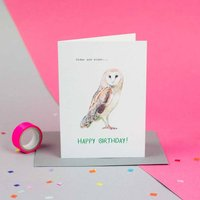 'Older And Wiser' Owl Special Age Birthday Card