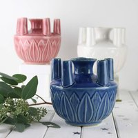 Tulip Vase, Three Colours, Blue/Coral/White