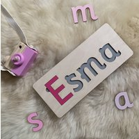 Handmade Children's Personalised Wooden Puzzle