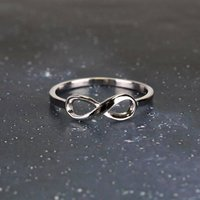 Sterling Silver Infinity Ring, Silver