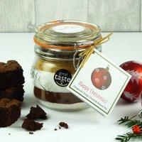 Christmas Chocolate Brownie Mix Jar