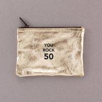 You Rock 50 Zipper Pouch Bag 50th Birthday Gift