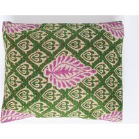 Upcycled Green Paisley Sari Vintage Kantha Clutch Bag