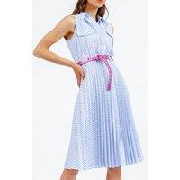 Lugano Striped Cotton Shirt Dress