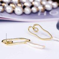 Twisted Hearts Pearl Drop Earrings