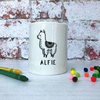 Alpaca Monochrome Money Box Christening Gift