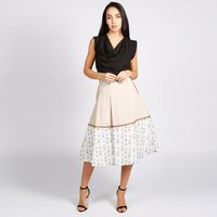 Hampstead 50s Style Skirt With Print Trim