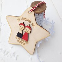 Personalised First Christmas As Mr And Mrs Decoration