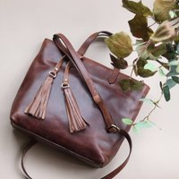 Pippa Leather Crossbody Shoulder Bag, Brown