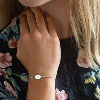Iona Personalised Oval Slider Bracelet