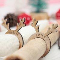 Personalised Christmas Reindeer Napkin Ring