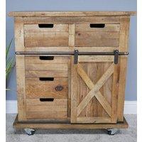 Industrial Wooden Storage Cabinet