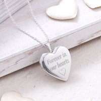 Personalised Sterling Silver Cremation Memorial Locket, Silver