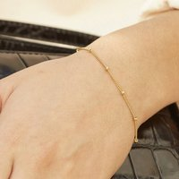 Bead Chain Bracelet In Silver, Gold Or Rose Vermeil, Silver