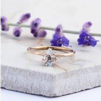 Ambrose 9ct Rose Gold White Sapphire Boho Ring, Gold