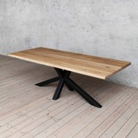 Diamond Natural Oak Solid Wood Dining Table
