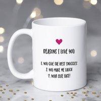 Personalised Reasons I Love You Mug