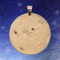 Large Gold Star Constellation With Diamonds, Gold