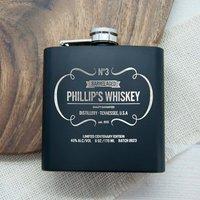 Personalised Whiskey Vintage Style Hip Flask