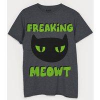 Freaking Meowt Mens Halloween Cat T Shirt
