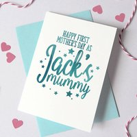 Personalised 1st Mother's Day As Mummy Card