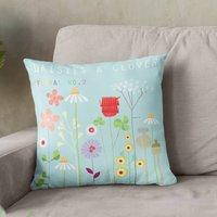 Daisies And Clover Cushion