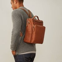 Luxury Personalised Mens Leather Rucksack Santino L