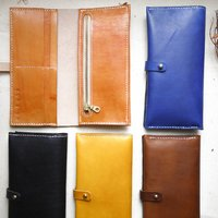 Leather Zip Bifold Purse Inside Personalisation