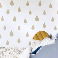 Raindrops Wallpaper Gold