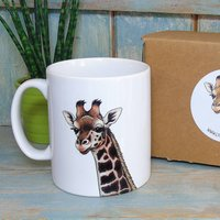Rothschild's Giraffe Illustration Mug