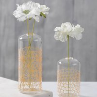 Gold Honeycomb Glass Vases