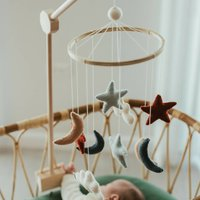 Moon, Star And Cloud Baby Mobile