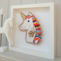 Personalised Birthday Fabric Unicorn Name Applique