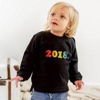 Baby Year Of Birth Rainbow Sweatshirt