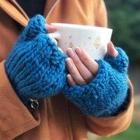 Make Your Own Freya Fingerless Gloves Knitting Kit