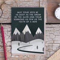 'Deep As The Snow' Card