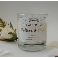Personalised Wedding Gift Candle