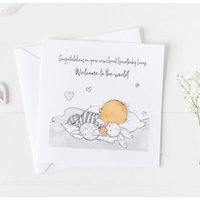 New Baby Card Gender Neutral Unisex Christening .6v2a