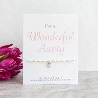 A Handmade Beaded Charm Bracelet Gift For Aunty