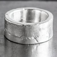 Personalised Sterling Silver 12mm Sand Cast Ring, Silver