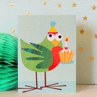 Mini Bird And Cake Card
