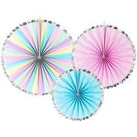 Pastel Party Fan Decoration Set