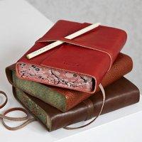 Personalised Leather Journal, Dark Brown/Brown/Tan